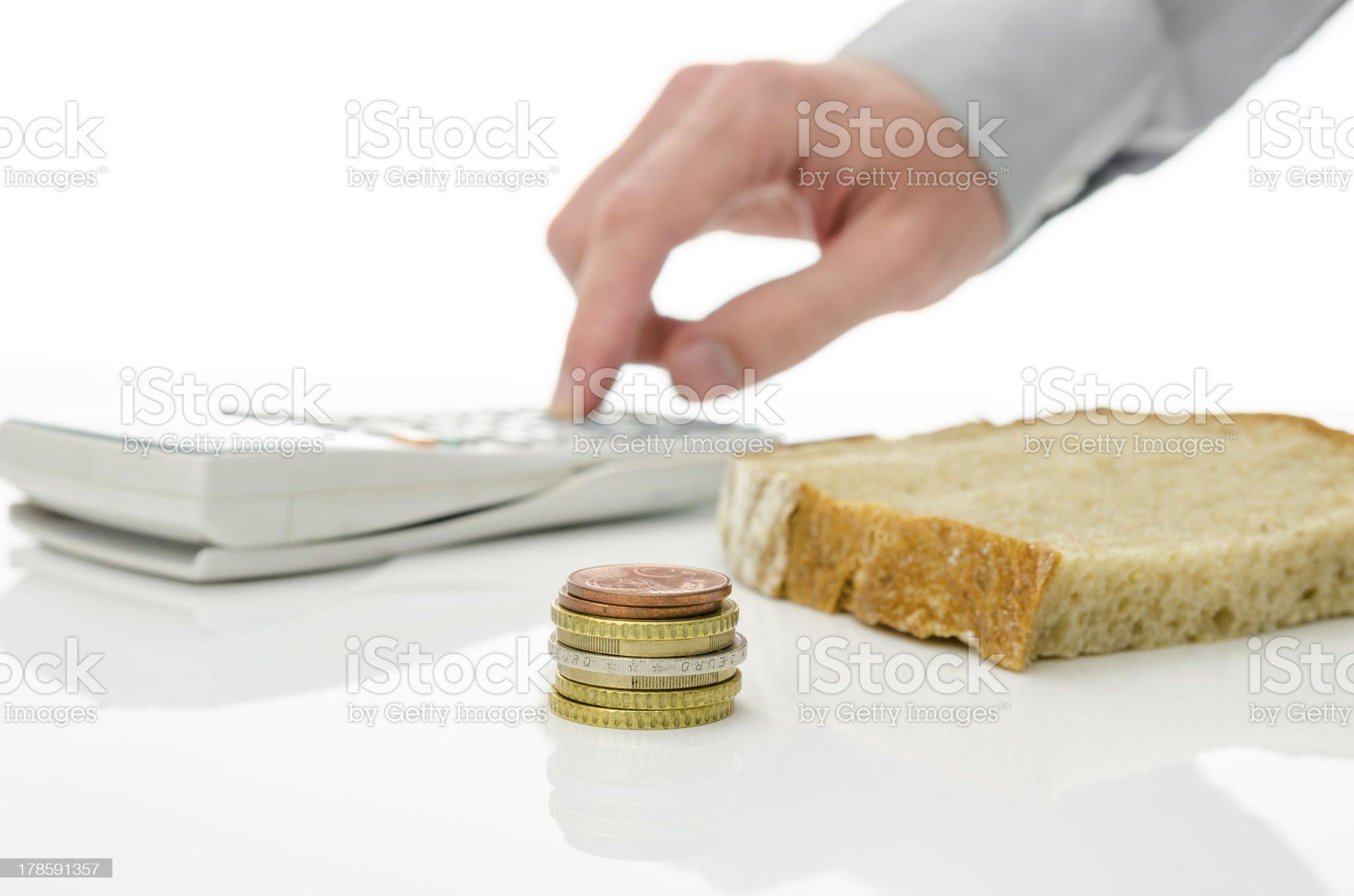 Food budget royalty-free stock photo