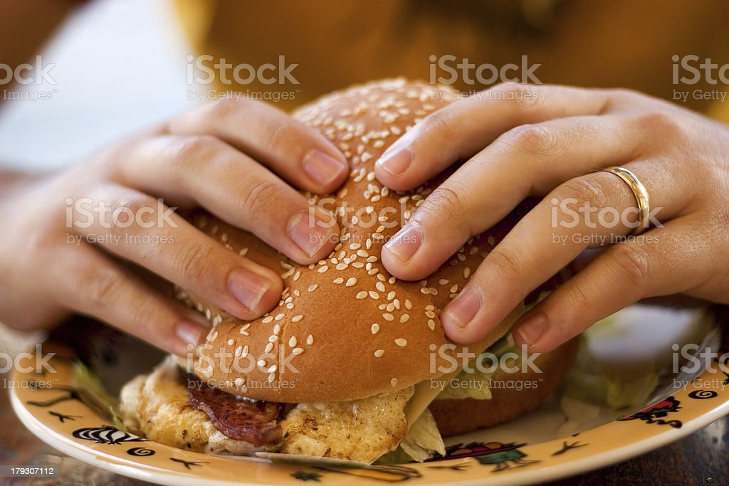 Food: burger. stock photo