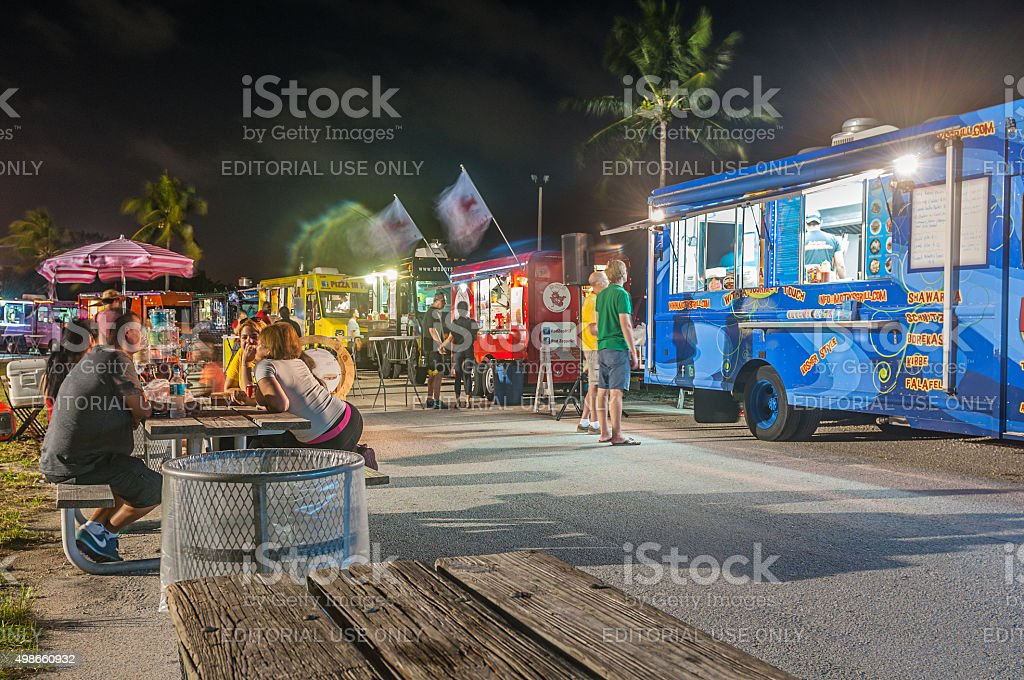Food by the beach stock photo
