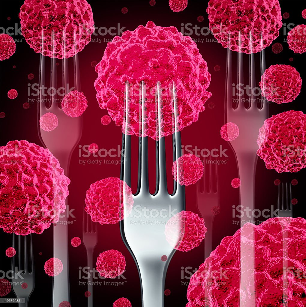 Food Cancer Concept stock photo