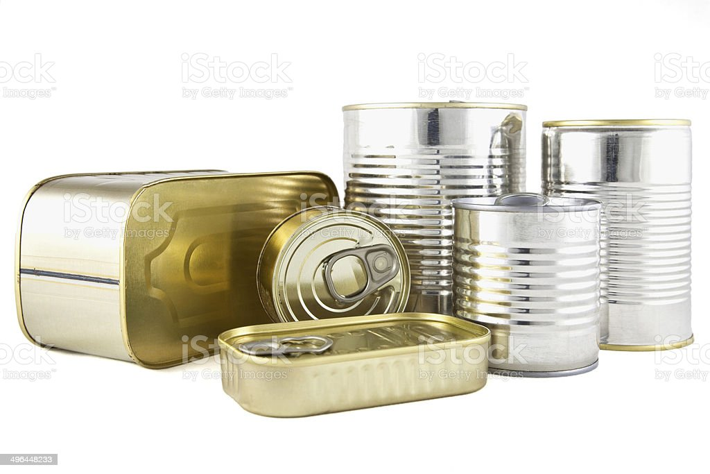 Food canned stock photo
