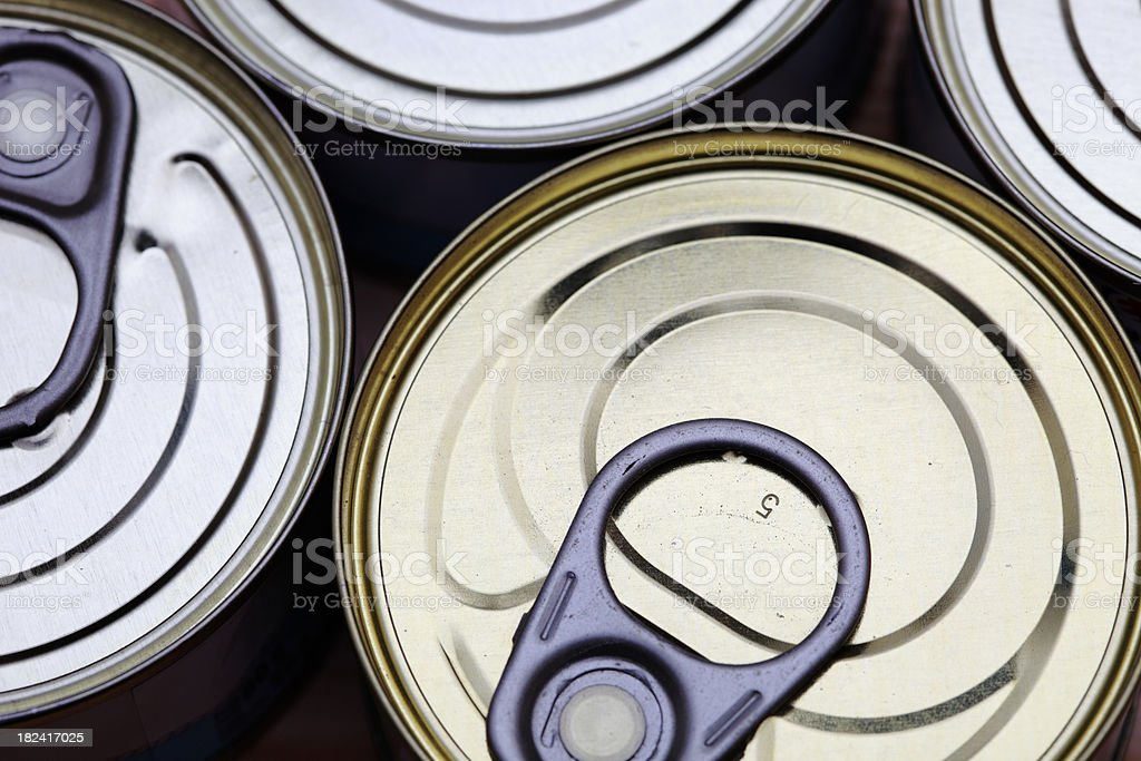 Food cans stock photo