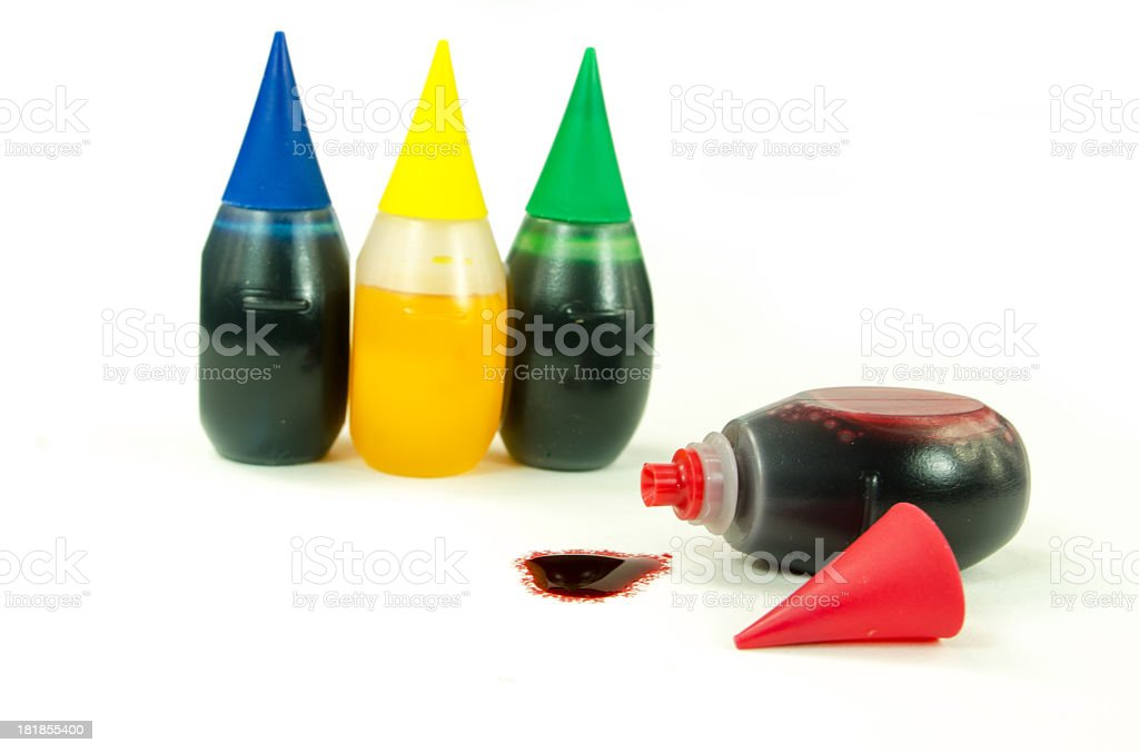 Food Coloring Bottles stock photo