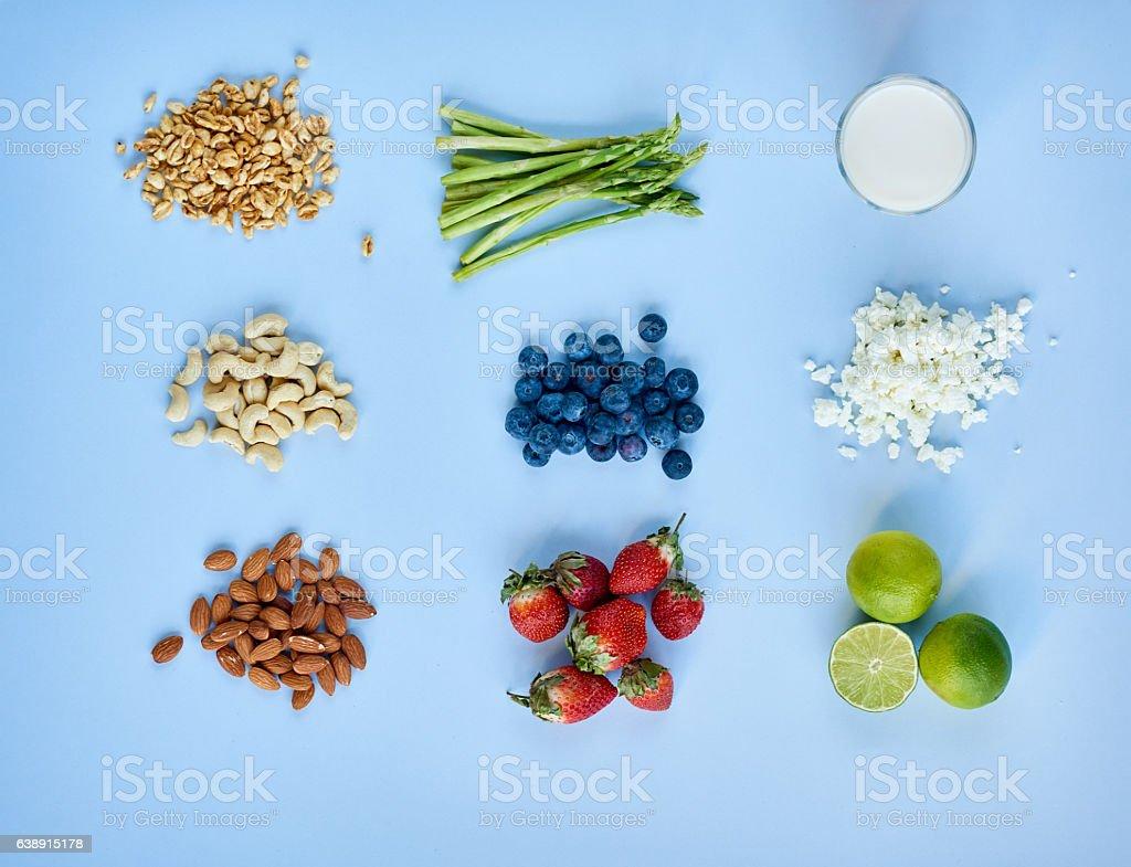 Food combining stock photo
