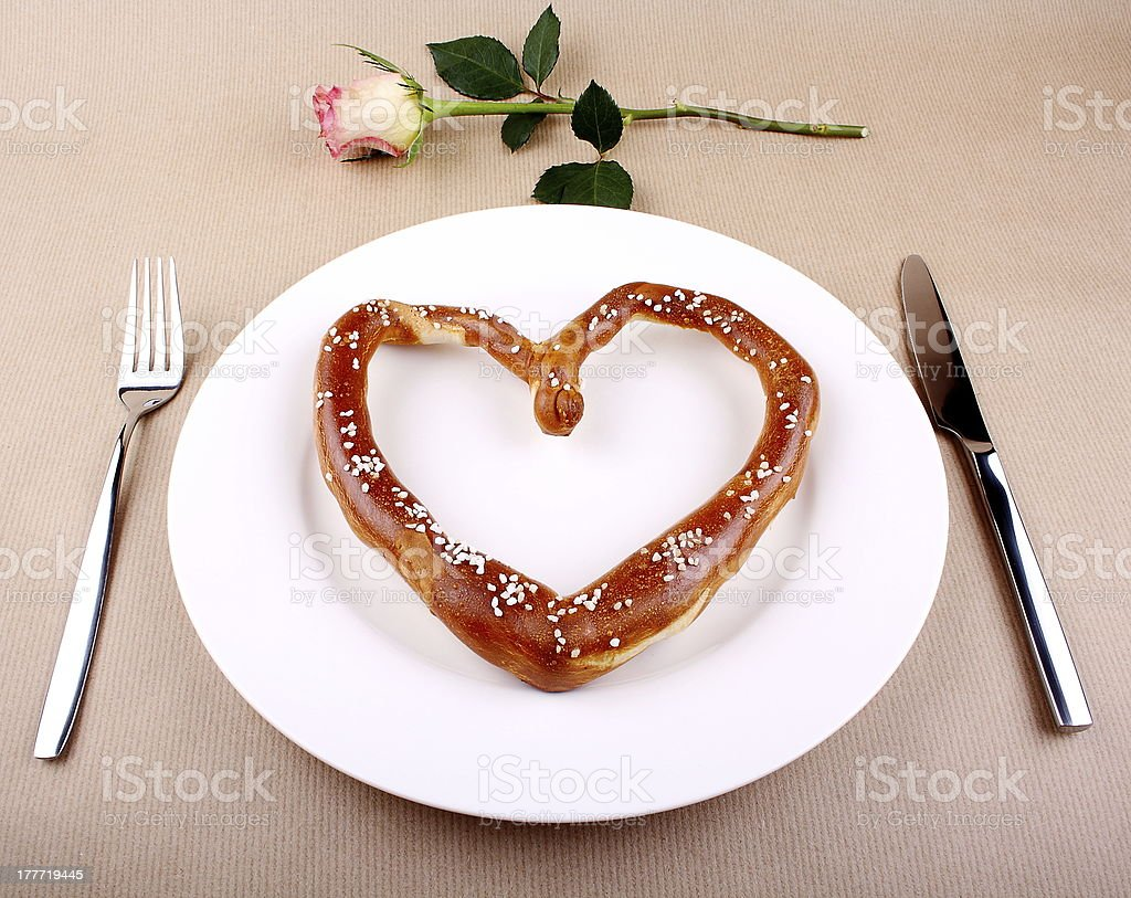 Food concept - eating for love royalty-free stock photo