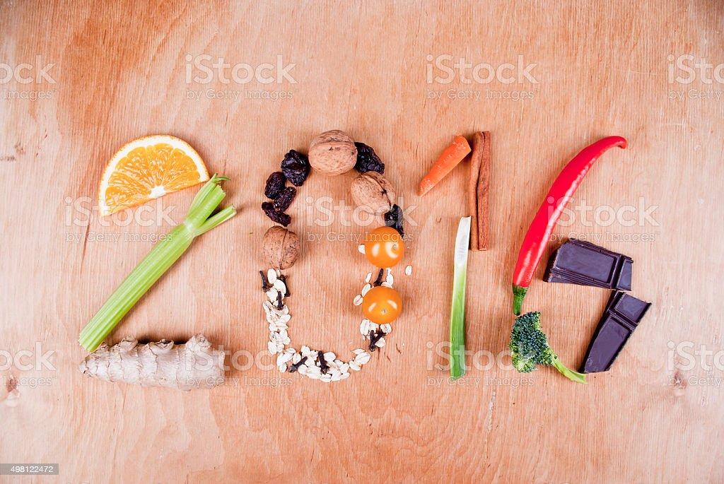 2016 Food Concept stock photo