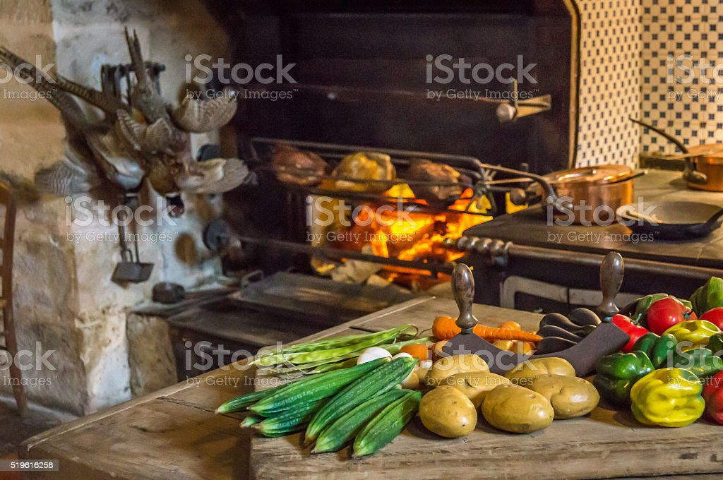 Food consumed in the Middle Ages stock photo
