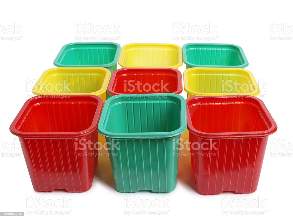Food containers stock photo