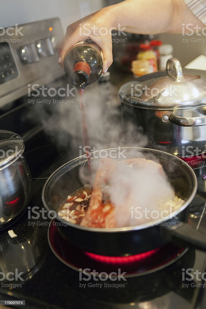 Food: Corned beef and cabbage stock photo