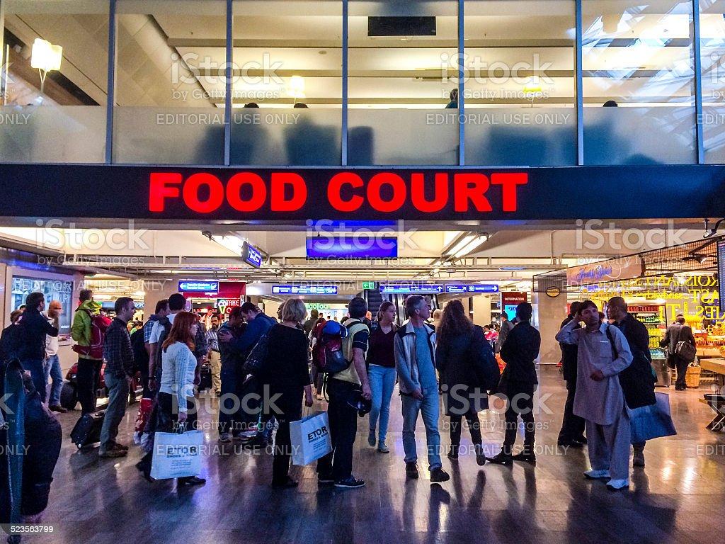 Food court at Ataturk Airport, Istanbul stock photo
