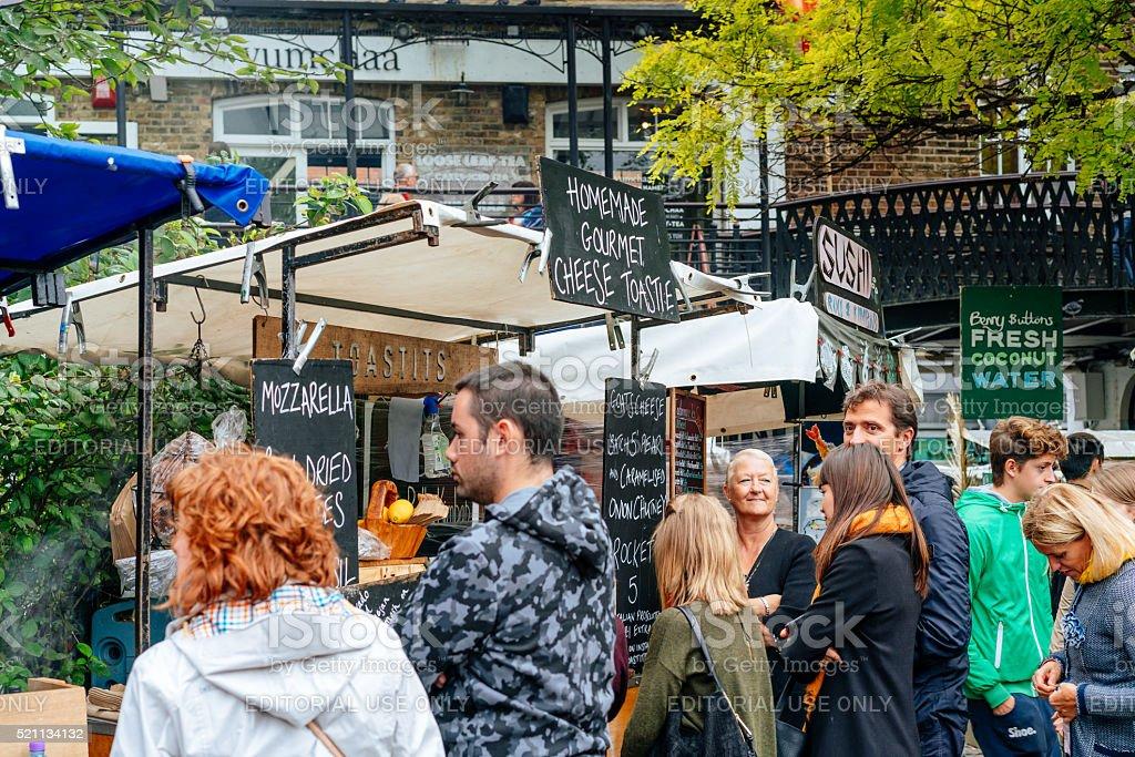 Food Court at Camden Town, London, UK stock photo