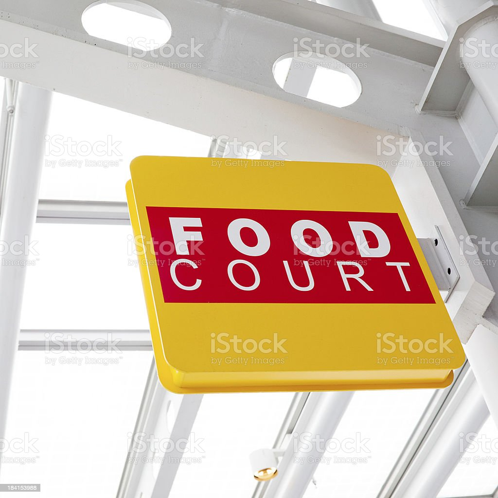 Food Court Sign royalty-free stock photo