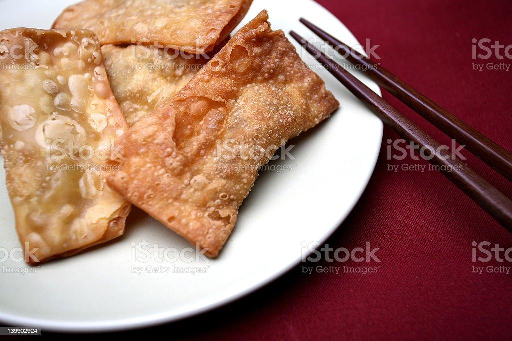 Food - crispy gau gee (Cantonese name) royalty-free stock photo