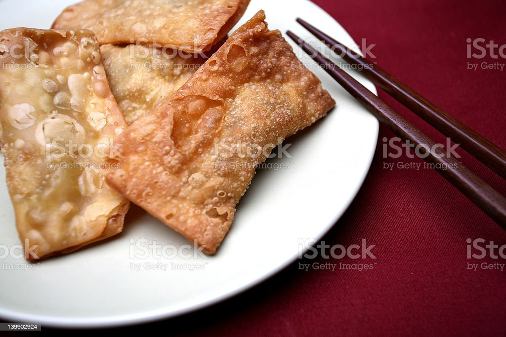 Food - crispy gau gee (Cantonese name) stock photo