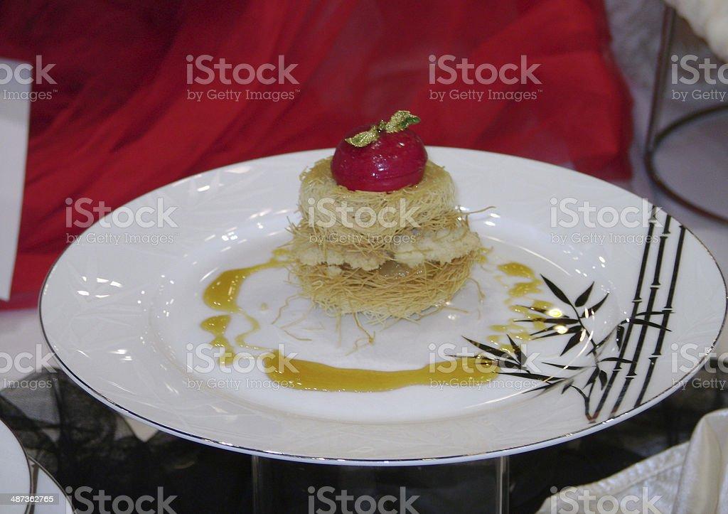 food decoration stock photo