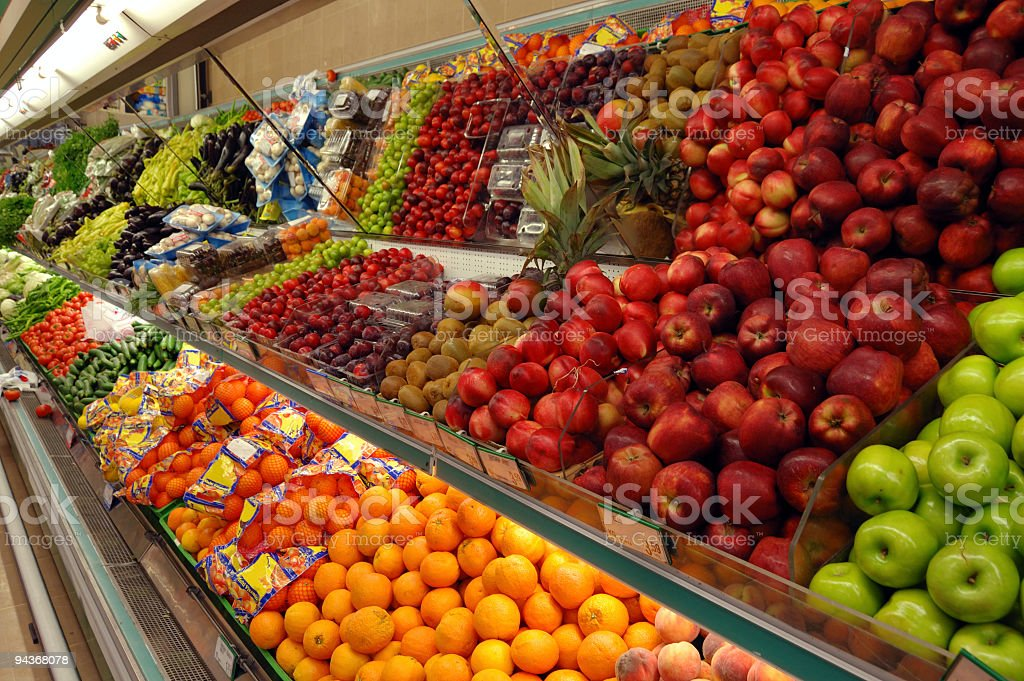 Food Department in a Supermarket royalty-free stock photo
