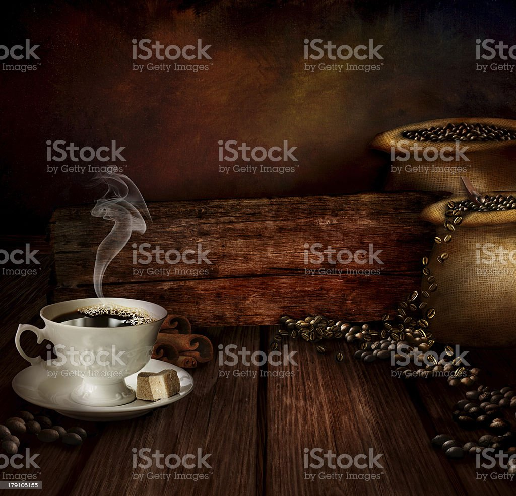 Food design - Coffee warehouse royalty-free stock photo