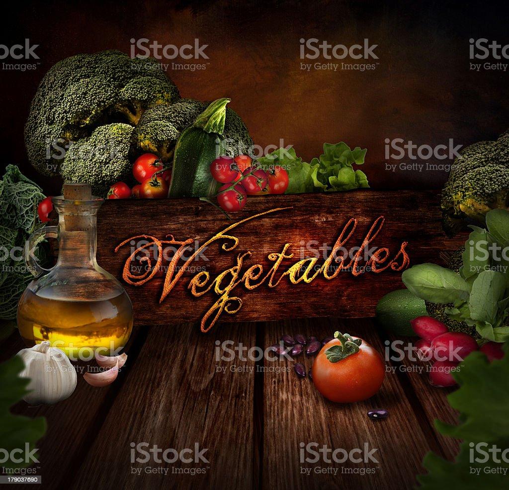 Food design - Fresh vegetables royalty-free stock photo
