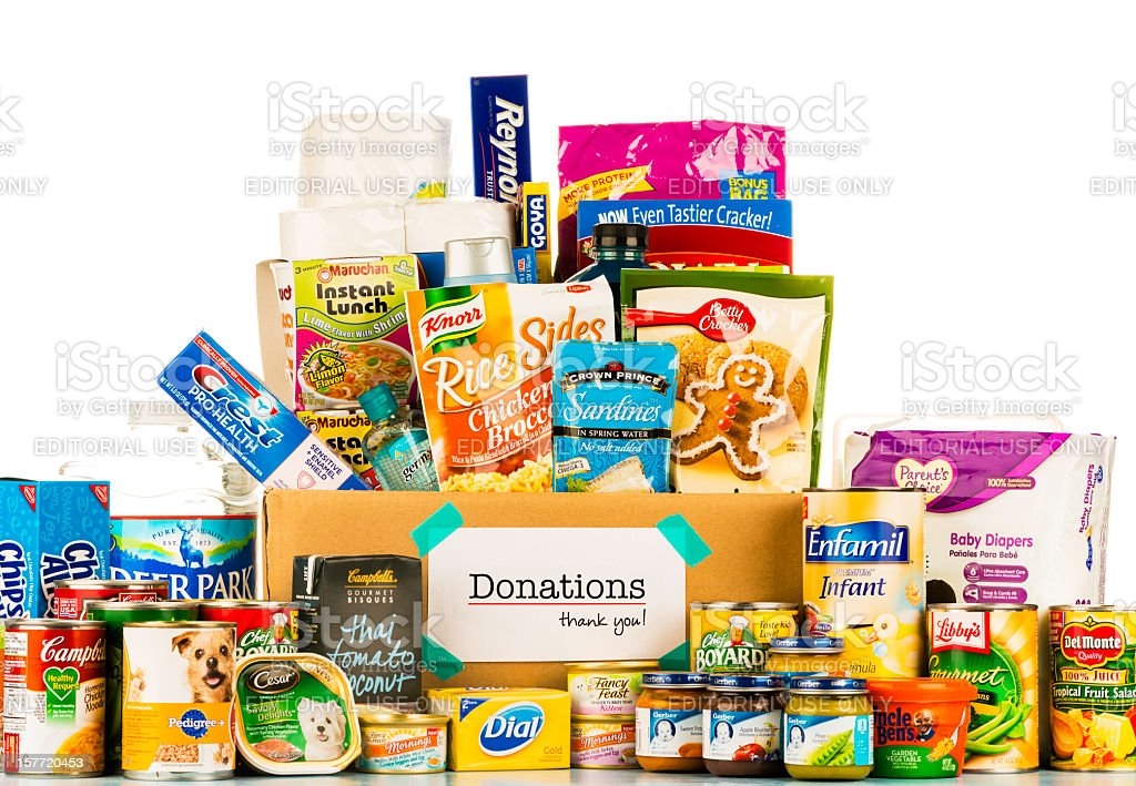 Food Donation Collection royalty-free stock photo
