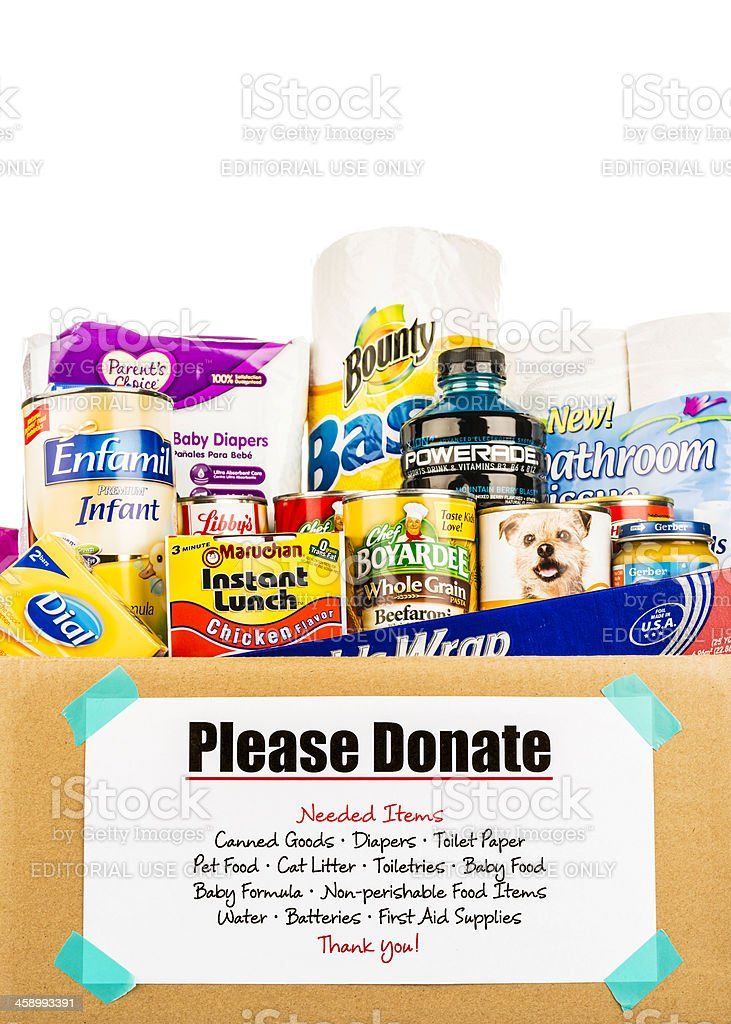 Food Donation Collection stock photo