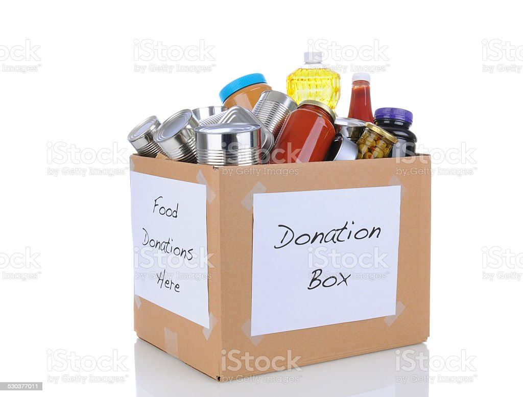 Food Drive Box stock photo
