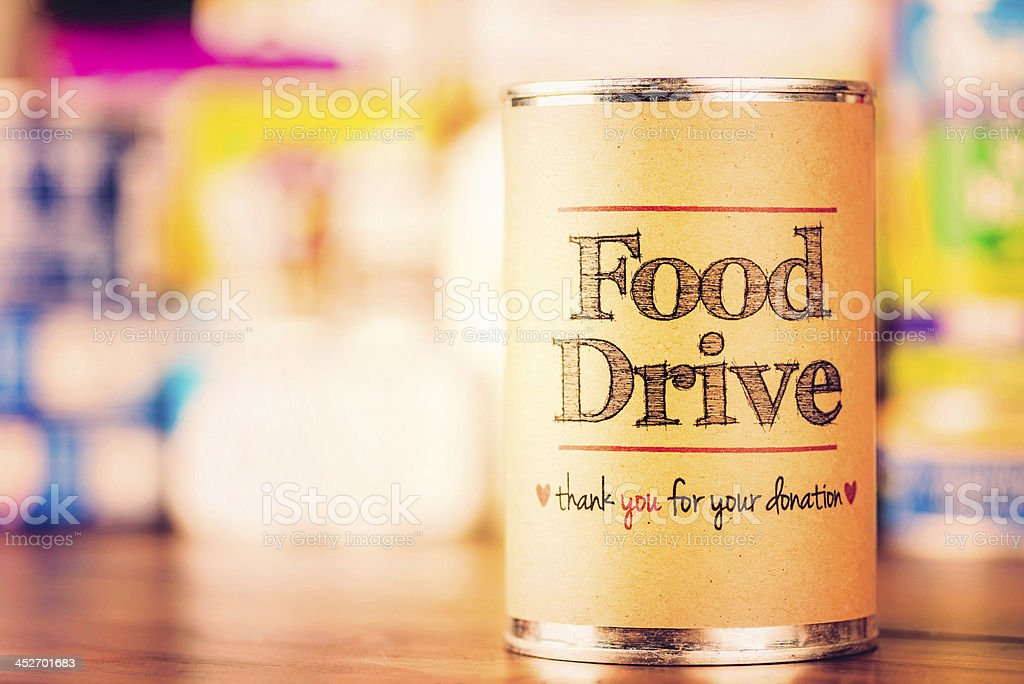 Food Drive stock photo