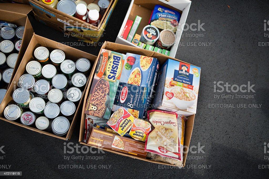 Food Drive stock photo