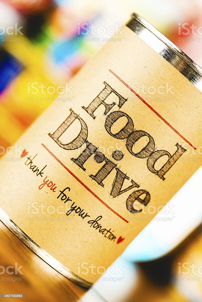 Food Drive Promotion royalty-free stock photo