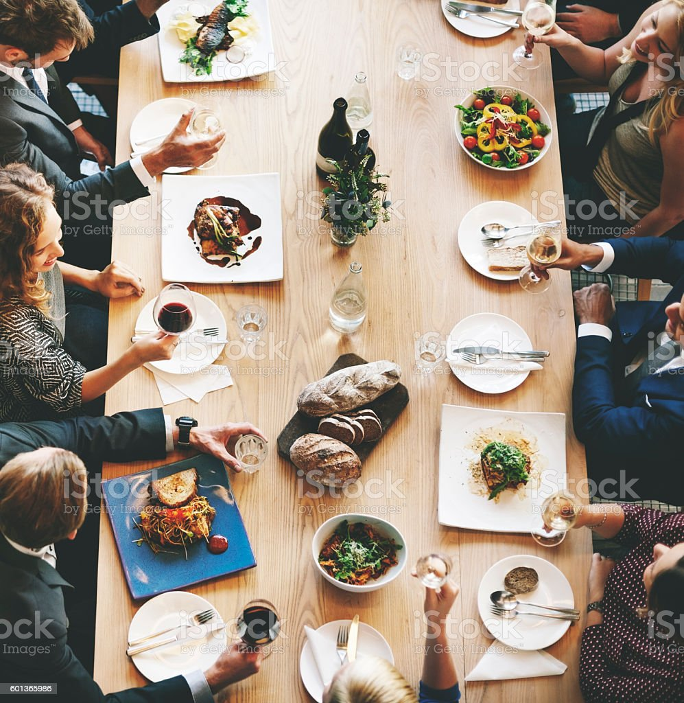 Food Festive Restaurant Party Unity Concept stock photo