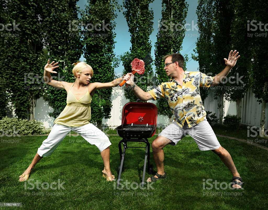 Food Fighters stock photo