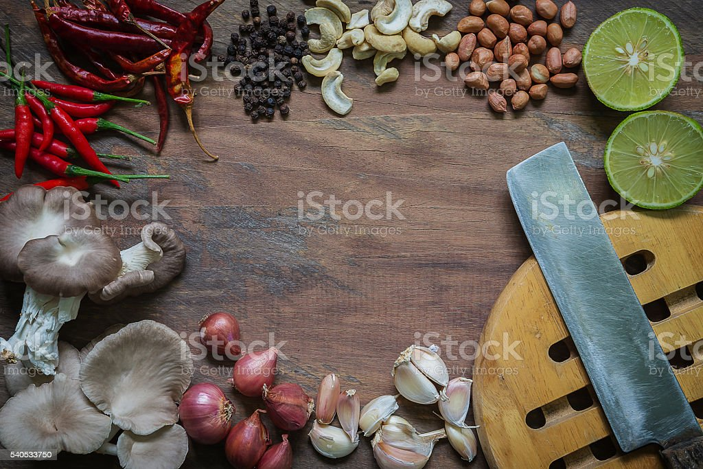Food flavoring compound Component placement stock photo