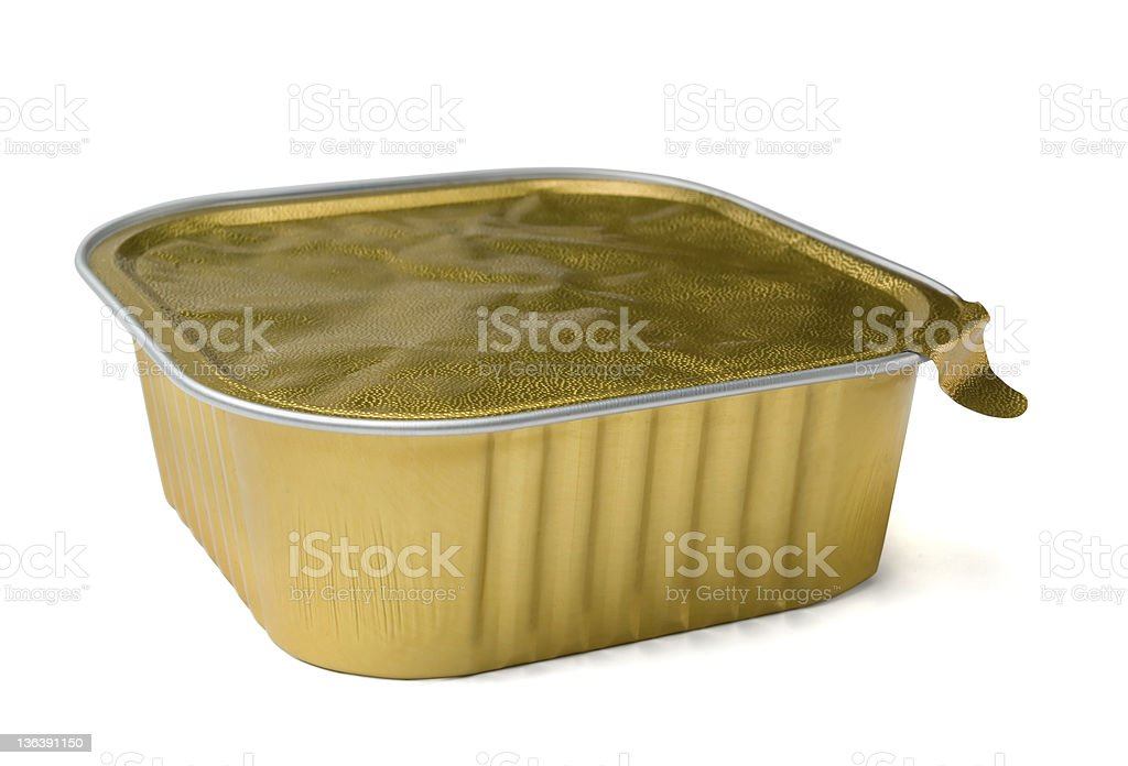 Food foil container royalty-free stock photo