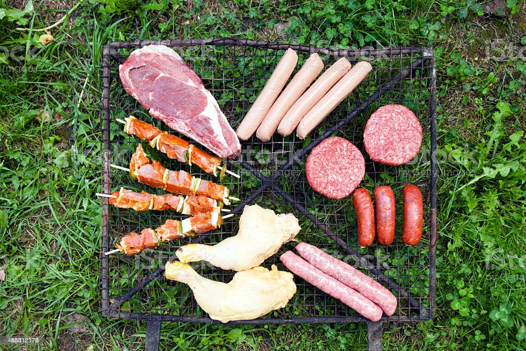 Food for barbecue stock photo