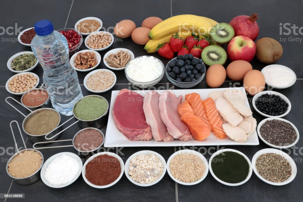 Food for Body Builders stock photo