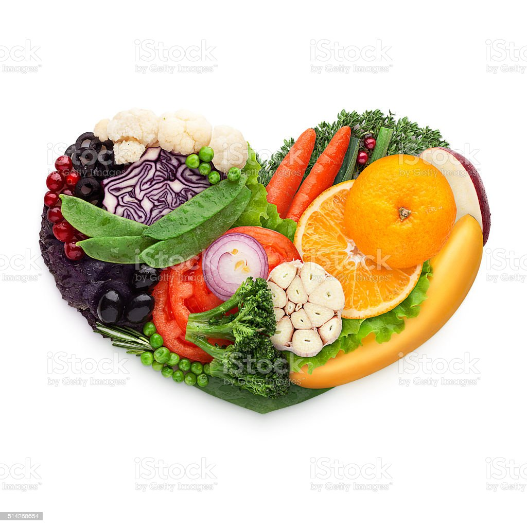 Food for heart. stock photo