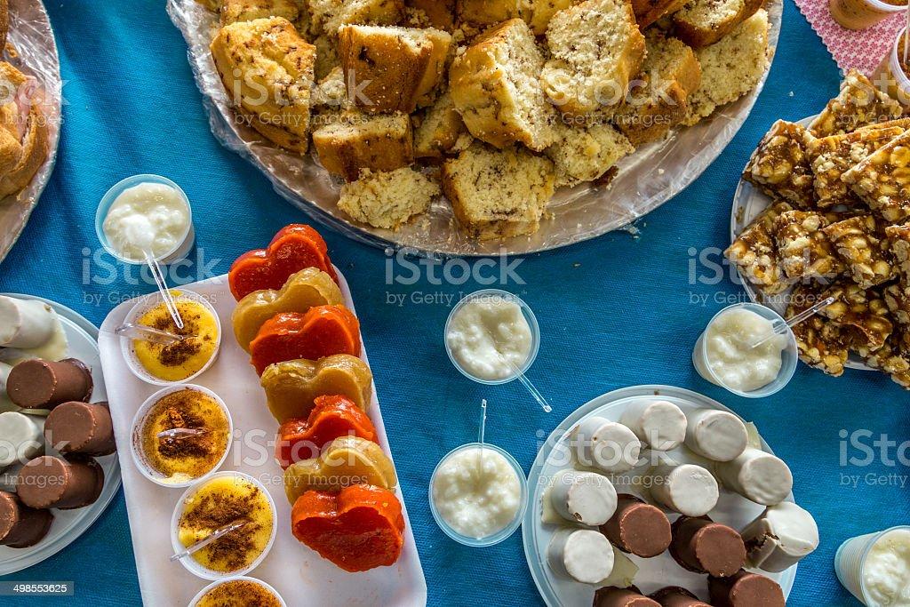 Food for Junina Party (Festa Junina) stock photo