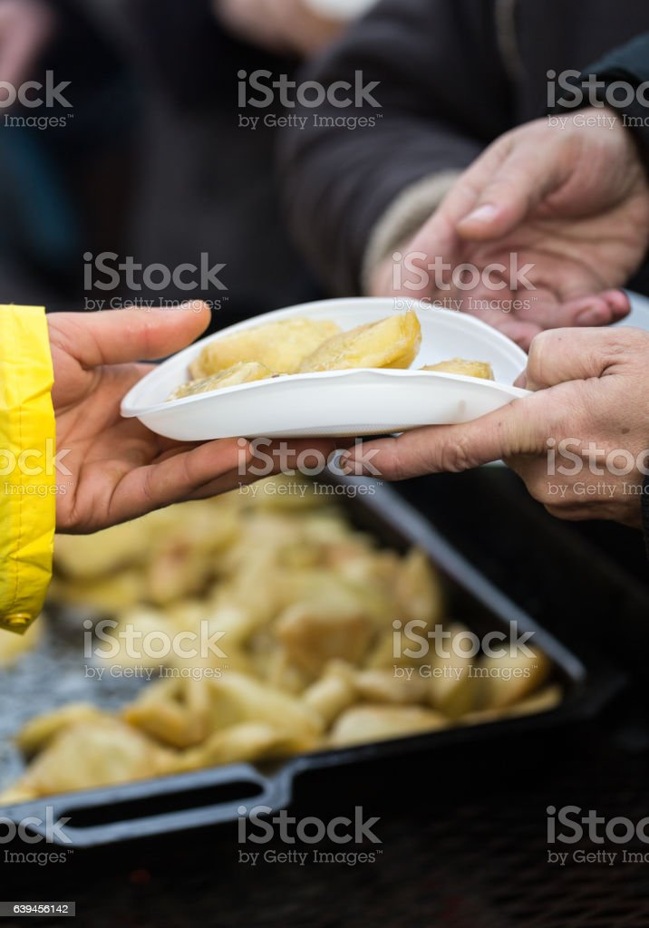 food for the poor and homeless stock photo