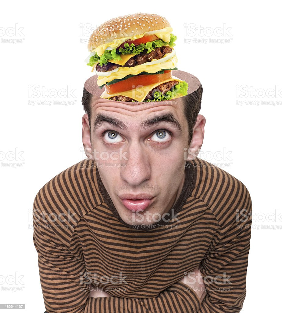 Food for thought stock photo