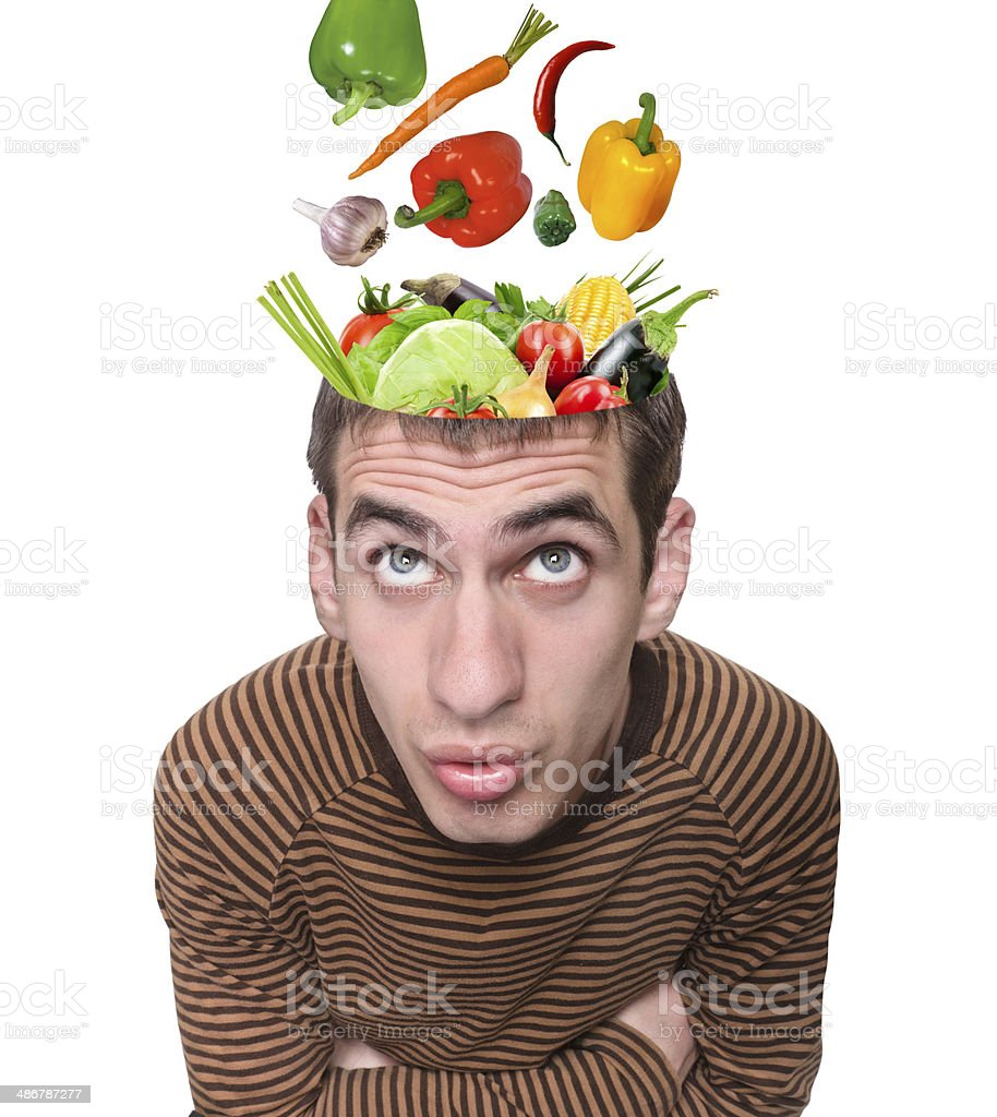 Food for thought. stock photo