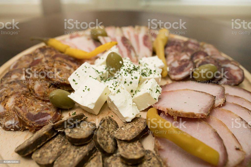 Food from Balkan stock photo