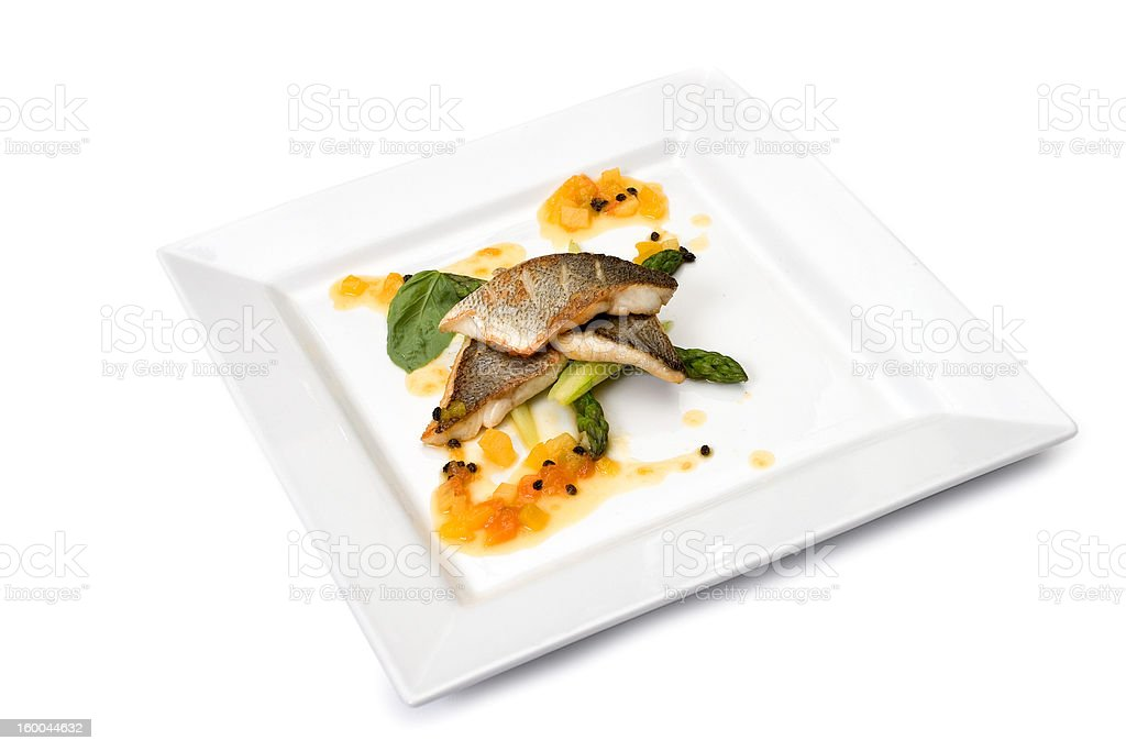 Food from the restaurant royalty-free stock photo