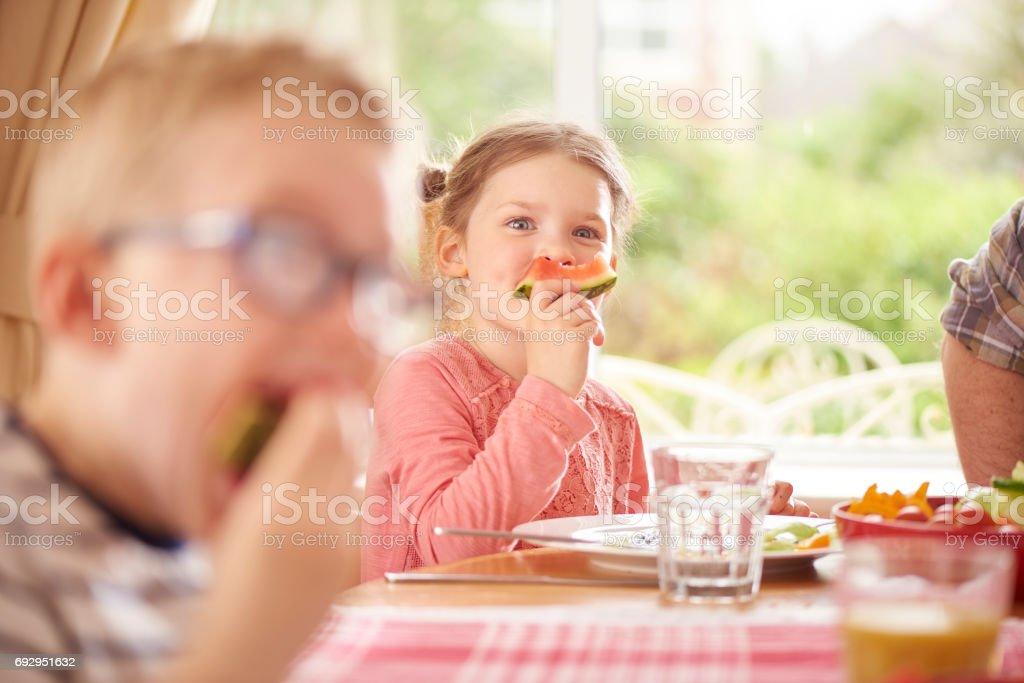 food fun stock photo