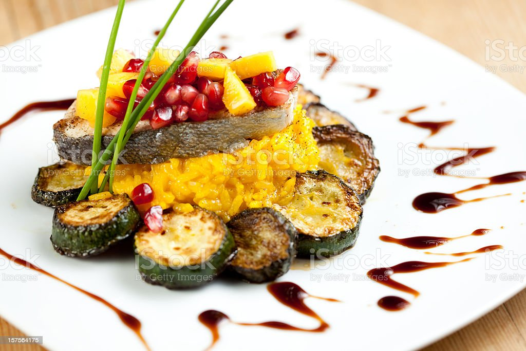 Food garnish royalty-free stock photo