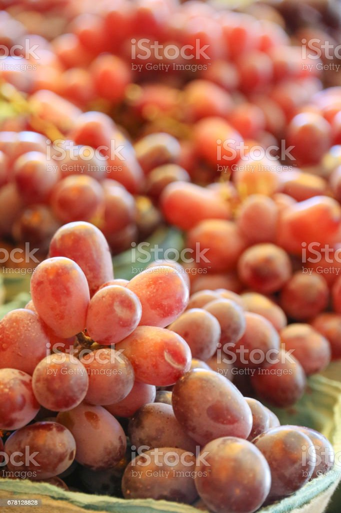 Food: Grapes in baskets stock photo