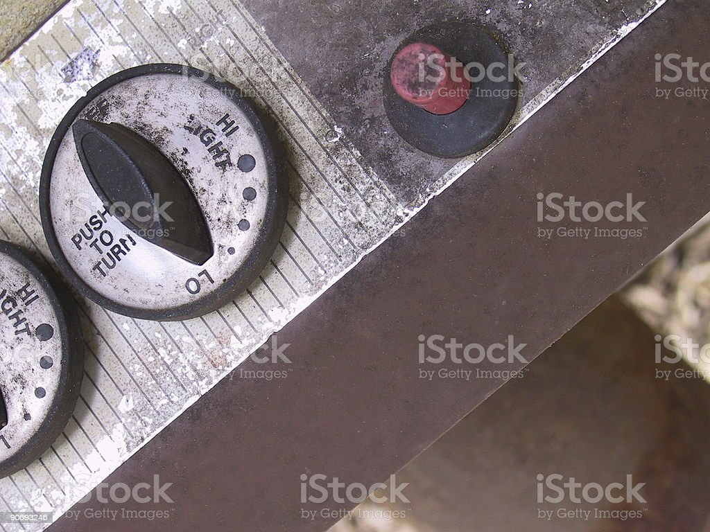 Food- Grill Controls stock photo