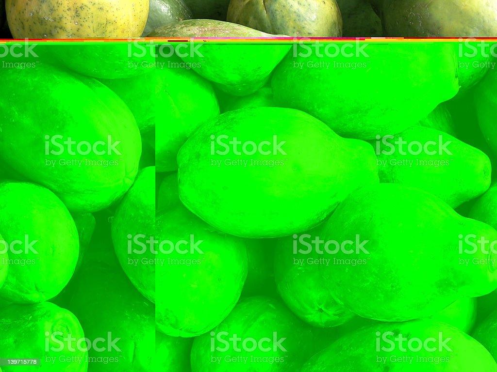 Food - Hawaiian Papaya royalty-free stock photo