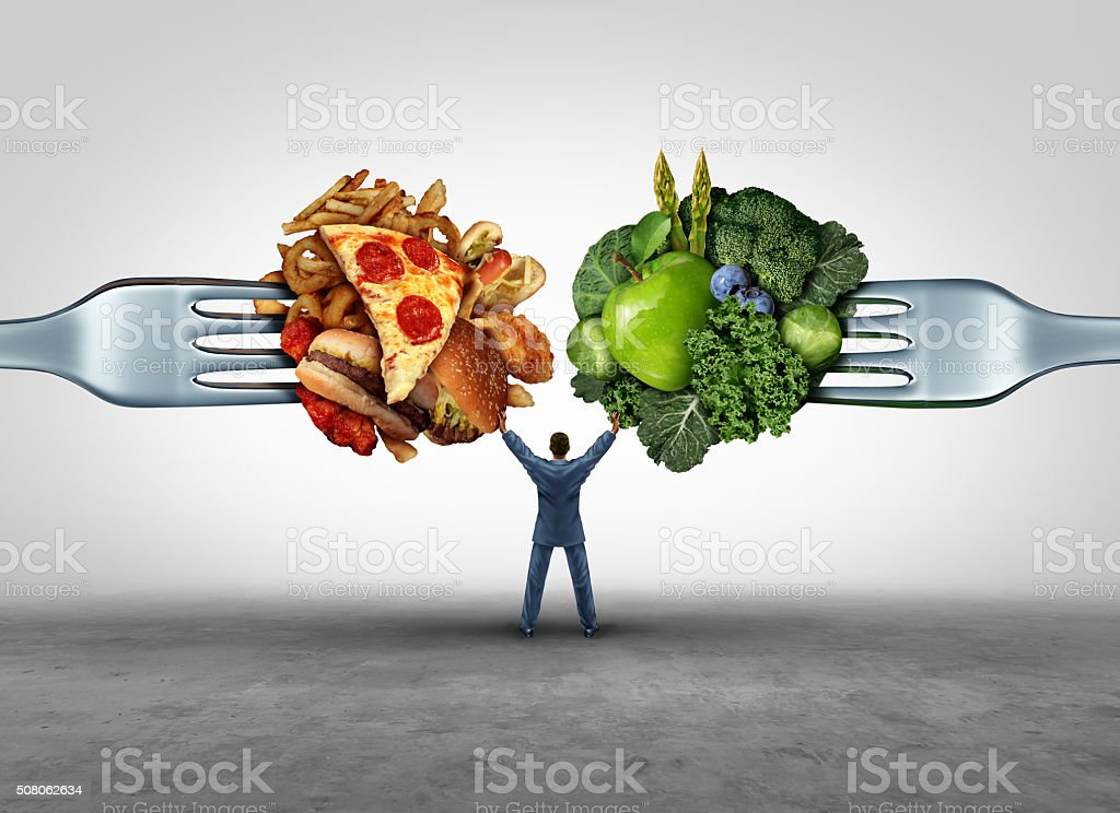 Food Health Decision stock photo