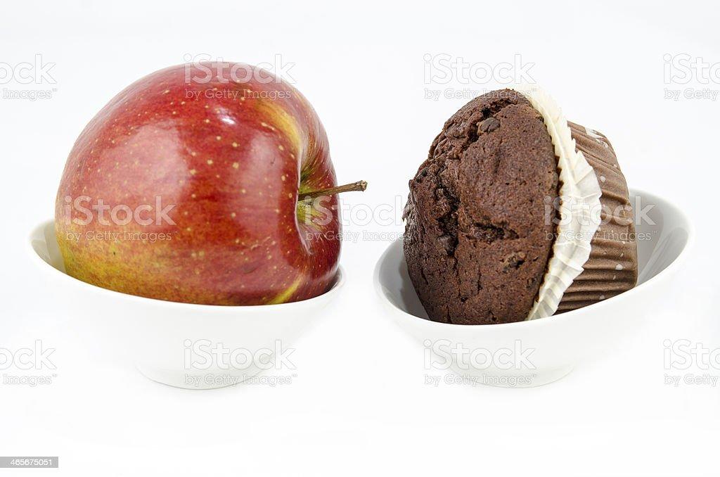 Food - Healthy versus unhealthy royalty-free stock photo