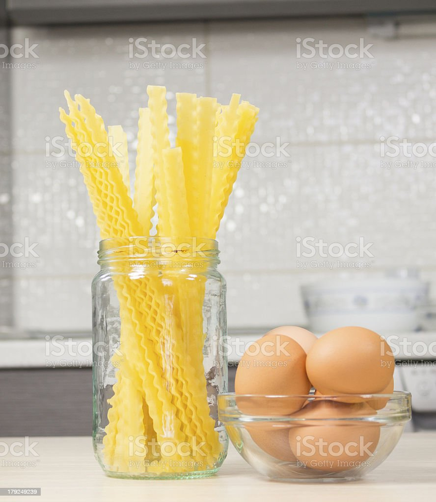 Food in kitchen royalty-free stock photo