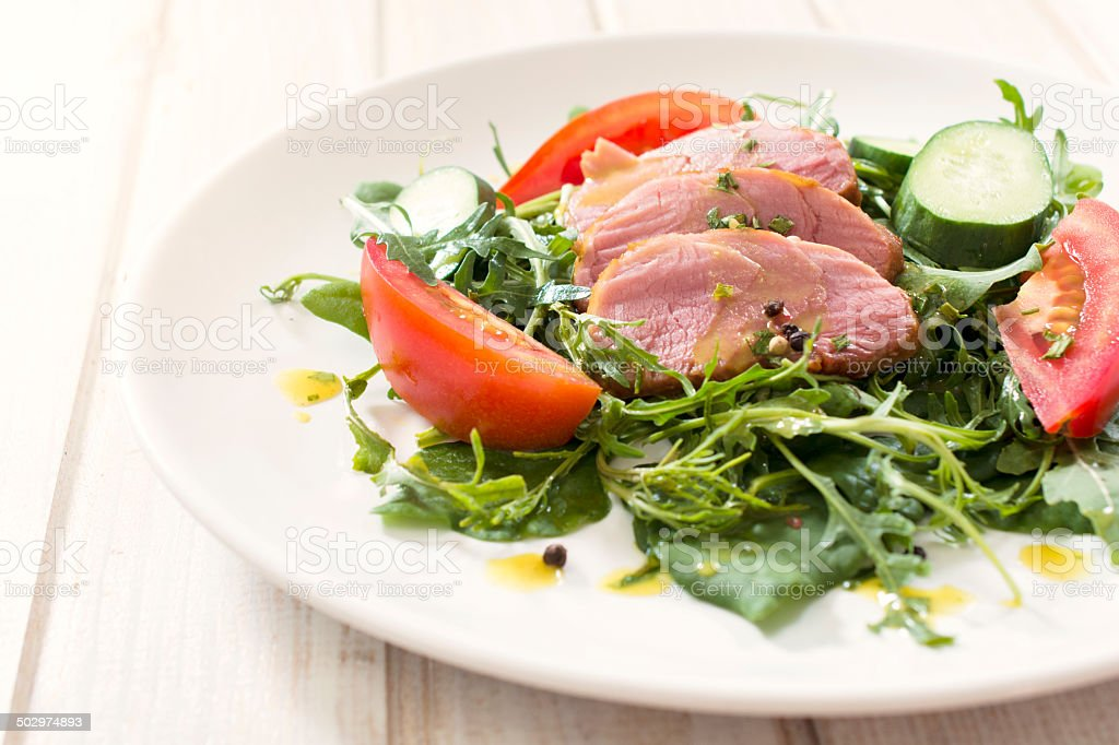Food in plate royalty-free stock photo